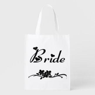 Obras clásicas de la novia bolsas reutilizables