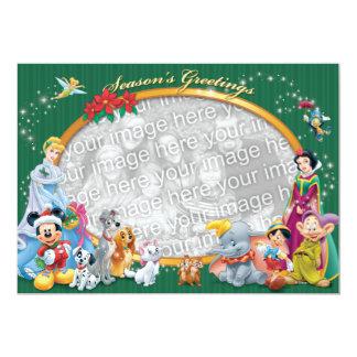 """Obras clásicas verdes de Disney: Tarjeta de Invitación 5"""" X 7"""""""