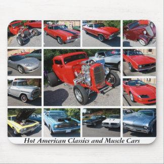Obras clásicas y coches americanos calientes 19 de tapetes de ratón