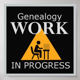 Obras en fase de creación de la genealogía póster