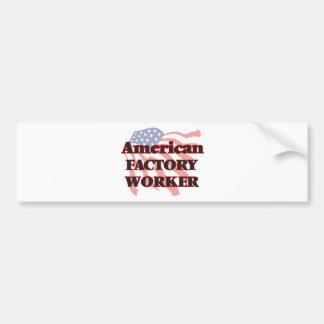 Obrero americano pegatina para auto