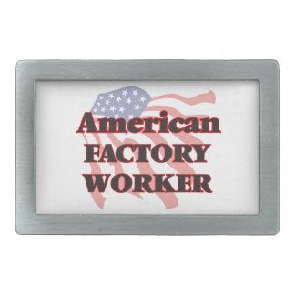 Obrero americano hebillas cinturon rectangulares