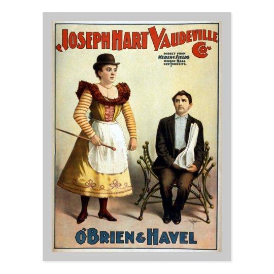 """""""O'Brien and Havel"""" Vintage Vaudeville Postcard"""