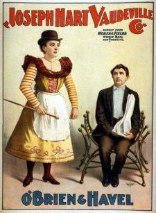 Vaudeville posters photo prints zazzle obrien and havel vintage vaudeville poster maxwellsz
