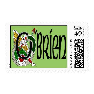 O'Brien Celtic Dragon Postage Stamps