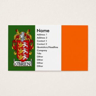 O'Brien Coat of Arms Business Cards