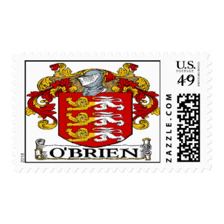 O'Brien Coat of Arms Postage Stamp