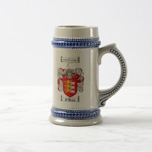 O'Brien Coat of Arms Stein Mug
