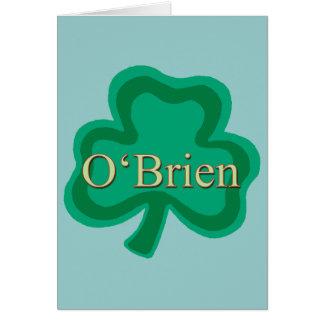 O'Brien Family Card