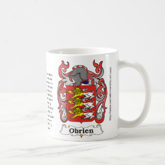 Obrien Family Coat of Arms on a mug
