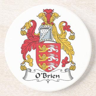 O'Brien Family Crest Beverage Coaster