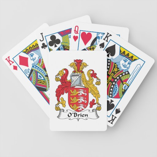 O'Brien Family Crest Bicycle Playing Cards