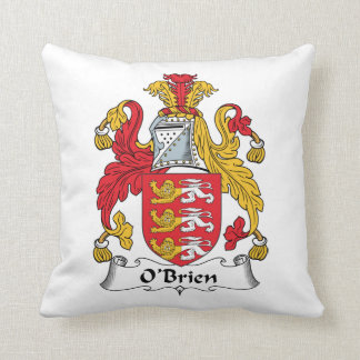O'Brien Family Crest Throw Pillow