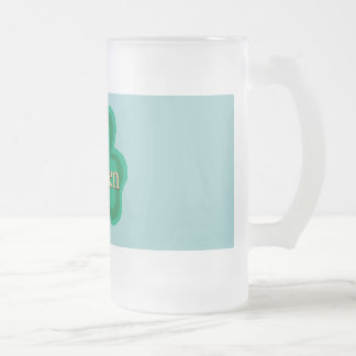 O'Brien Family 16 Oz Frosted Glass Beer Mug