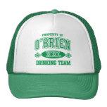 O'Brien Irish Drinking Team Trucker Hats