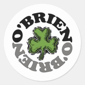 O'Brien Pegatinas Redondas