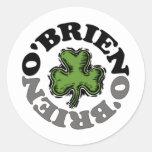 O'Brien Pegatina Redonda