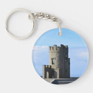 O'Brien's Tower on the Cliffs of Moher Keychain