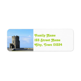 O'Brien's Tower on the Cliffs of Moher Label