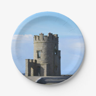 O'Brien's Tower on the Cliffs of Moher Paper Plate