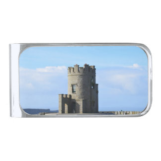 O'Brien's Tower on the Cliffs of Moher Silver Finish Money Clip