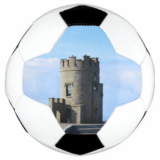 O'Brien's Tower on the Cliffs of Moher Soccer Ball