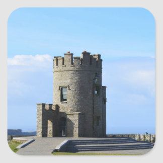 O'Brien's Tower on the Cliffs of Moher Square Sticker