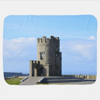 O'Brien's Tower on the Cliffs of Moher Swaddle Blanket