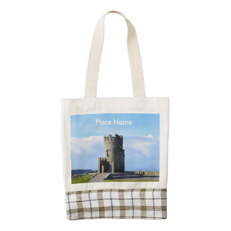 O'Brien's Tower on the Cliffs of Moher Zazzle HEART Tote Bag
