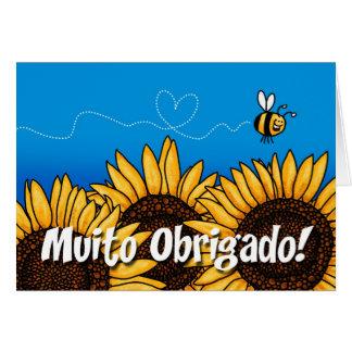 ¡Obrigado de Muito! (Los portugueses le agradecen  Tarjetón