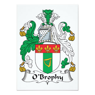 O'Brophy Family Crest Announcements