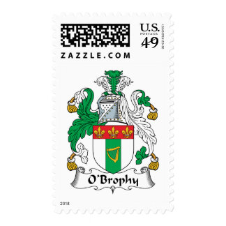 O'Brophy Family Crest Postage Stamps