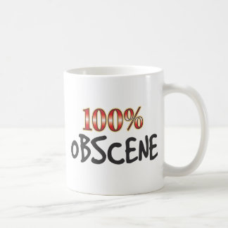 Obscene100 Percent Classic White Coffee Mug