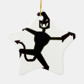 Obscure Indication Magickal Fire Devil Products Double-Sided Star Ceramic Christmas Ornament