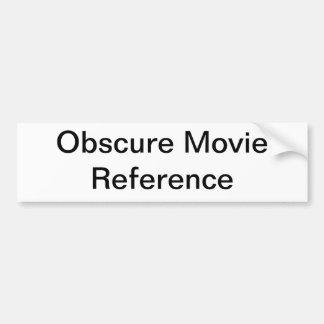 Obscure Movie Generic Bumper Sticker