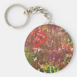 Obscured by Jungle Leaves Keychain