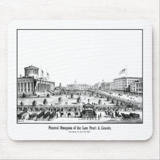 Obsequies fúnebres de presidente Lincoln Tapetes De Raton