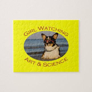Observación, arte y ciencia del chica rompecabeza