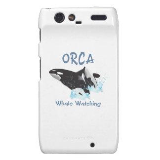 Observación de la ballena de la ORCA Droid RAZR Funda