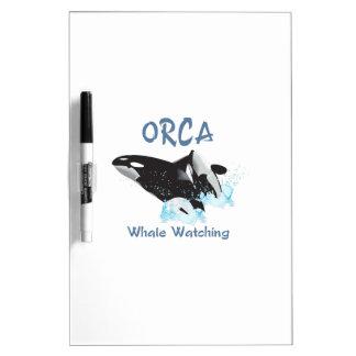 Observación de la ballena de la ORCA Tablero Blanco