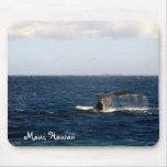 Observación de la ballena de Maui Hawaii Tapete De Ratón