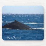 Observación de la ballena de Maui Hawaii Alfombrillas De Ratón