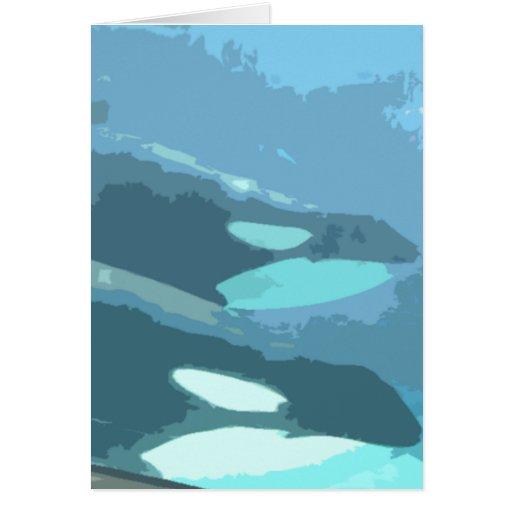 Observación de la ballena tarjetas