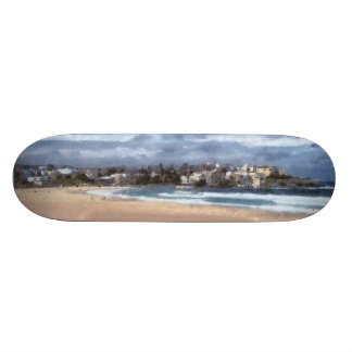 Observación de la playa skate board