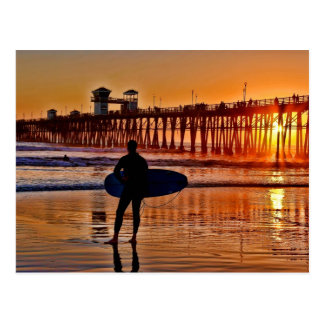 Observación de la postal de la puesta del sol