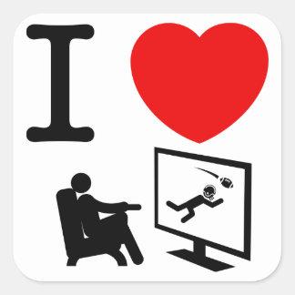 Observación de la TV Calcomanias Cuadradas
