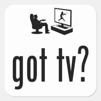 Observación de la TV Pegatina Cuadradas