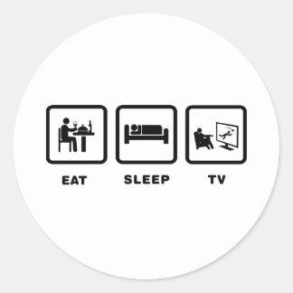 Observación de la TV Pegatinas Redondas