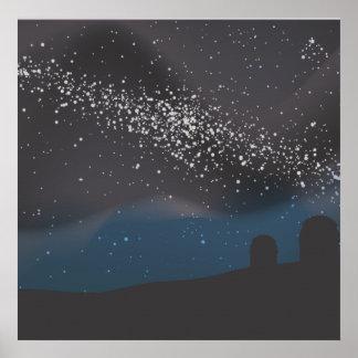 Observación de las estrellas póster