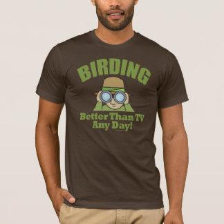 Observación de pájaros, Birder de Birding Playera